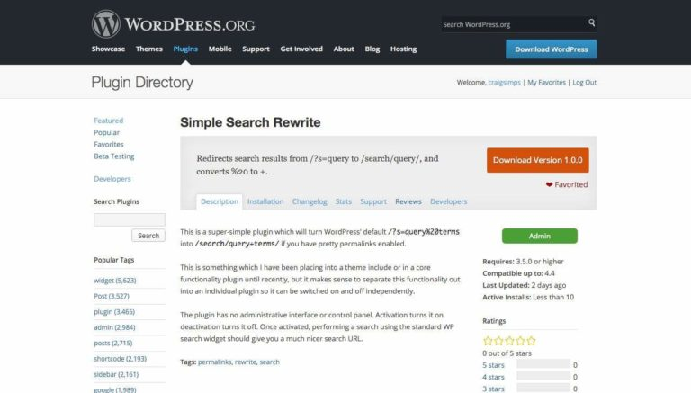 Simple Search Rewrite, available on WordPress.org.