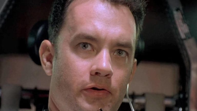 Photo of Tom Hanks in Apollo 13, where he utters the line